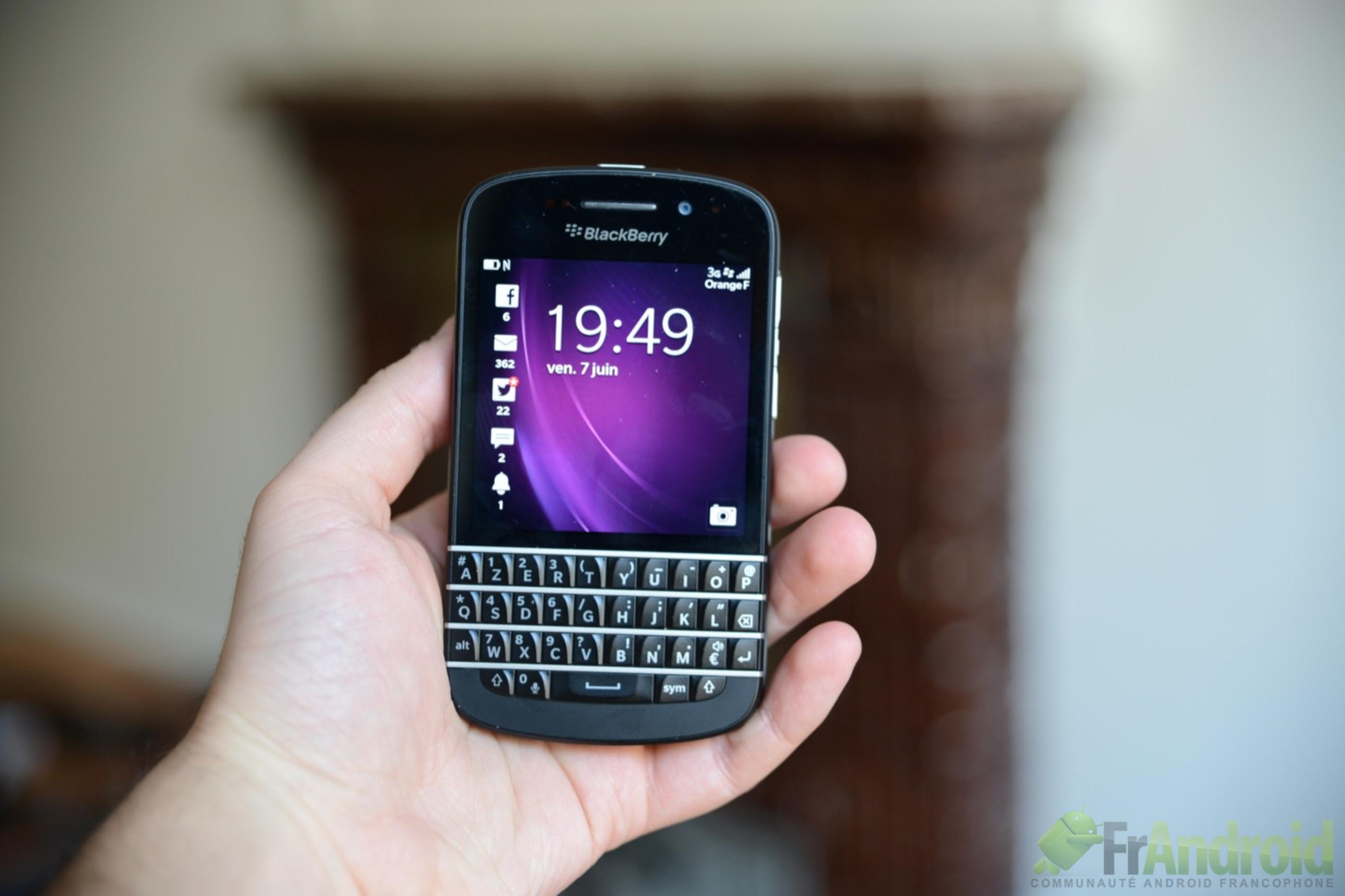 test  du blackberry q