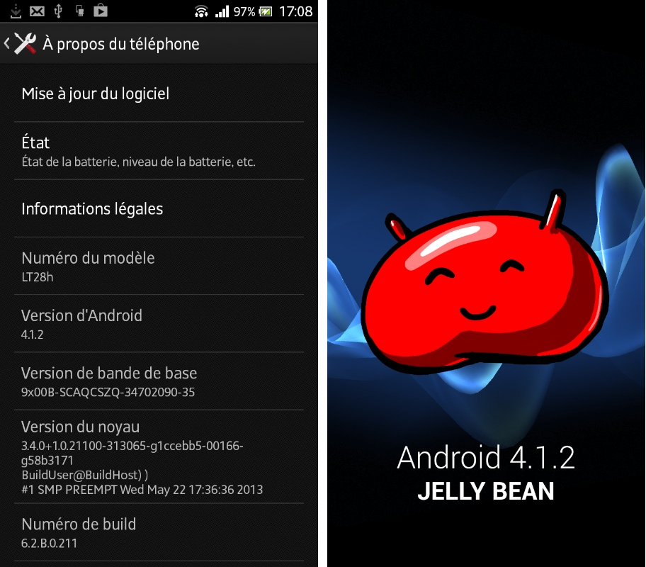 android 4 1 2 jelly bean arrive sur le sony xperia ion. Black Bedroom Furniture Sets. Home Design Ideas