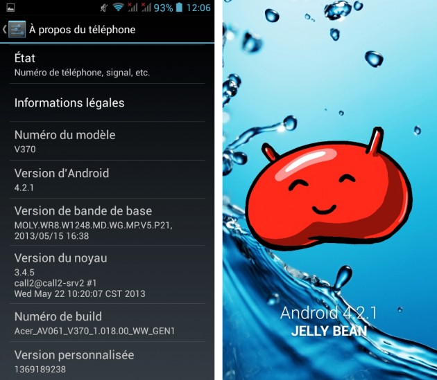 android 4.2.1 jelly bean acer liquid e2 out of the box