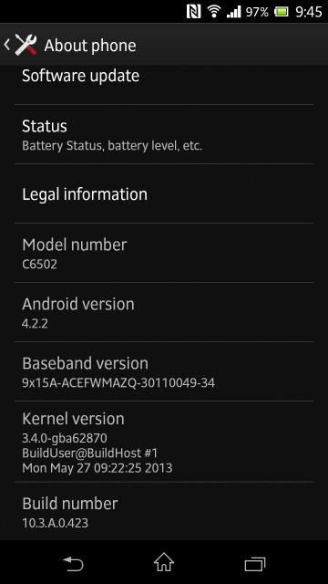 android 4.2.2 jelly bean sony xperia zl