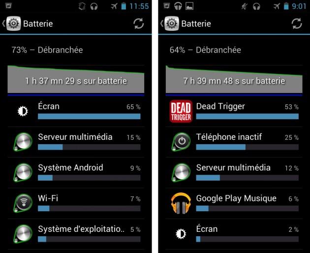 android alcatel one touch scribe easy batterie autonomie musique vidéo image 0