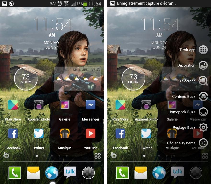 Buzz Launcher, un nouveau lanceur d'applications sur Android