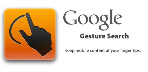 android google gesture search bannière