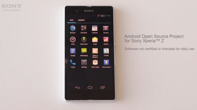 android open source project asop sony xperia z google edition