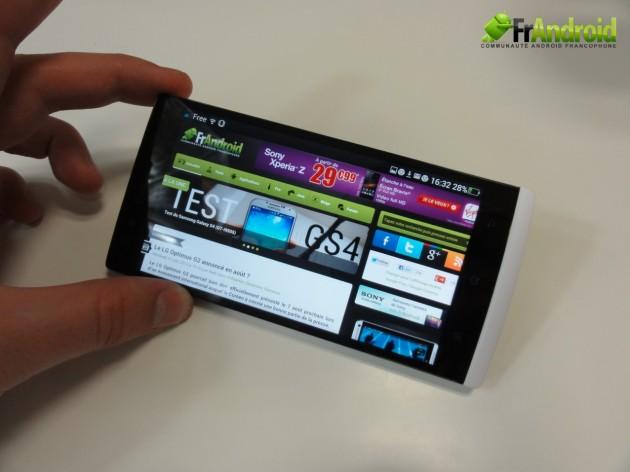 android oppo find 5 qualité écran 0