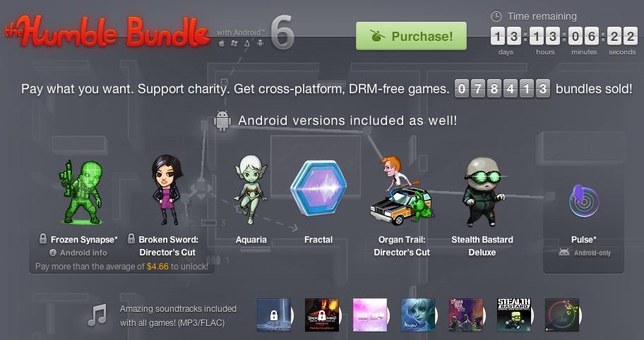 Humble Bundle for Android 6 revient avec 7 jeux