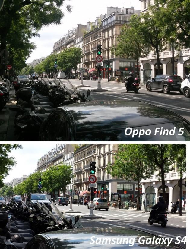 test qualité photo oppo find 5 versus galaxy s4 2