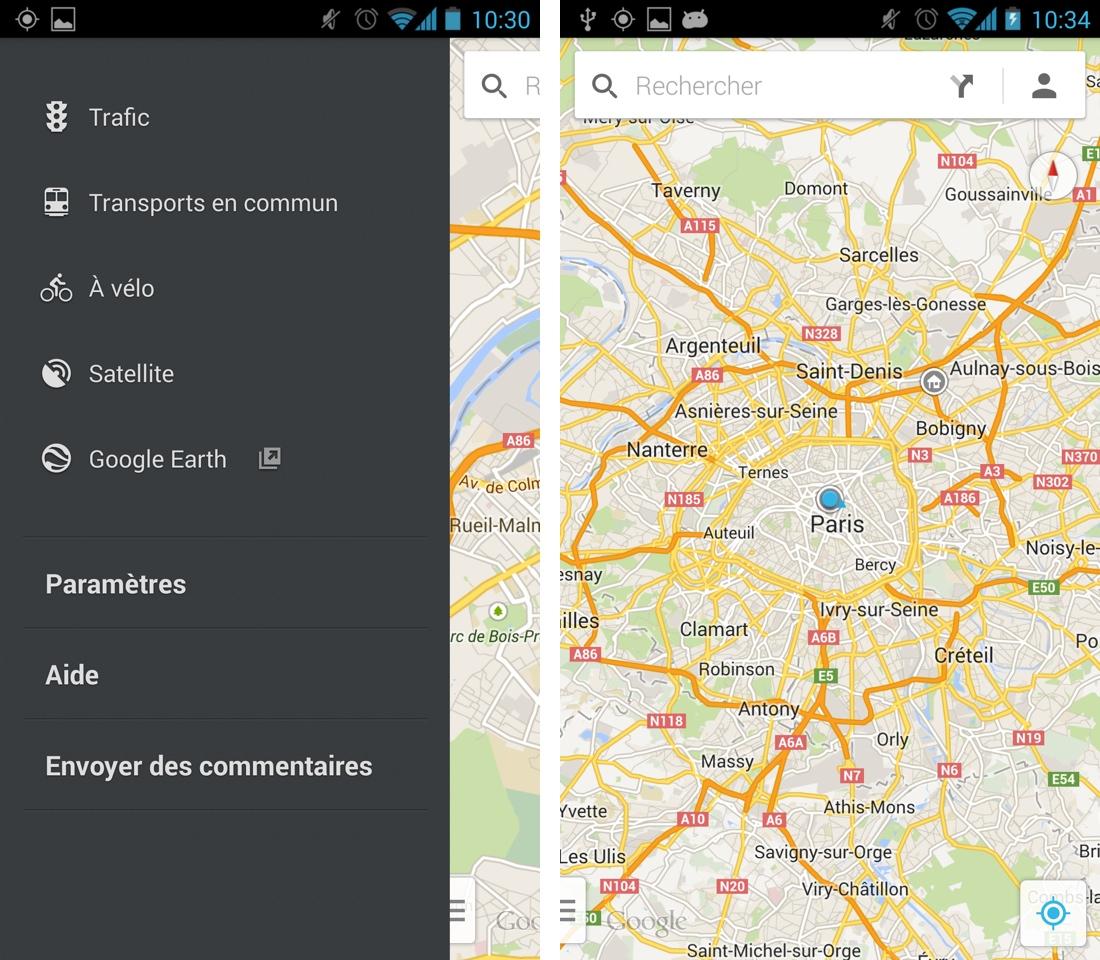google maps 7 0 la nouvelle application android est l. Black Bedroom Furniture Sets. Home Design Ideas