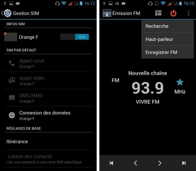 Copie de android wiko cink five double sim radio fm