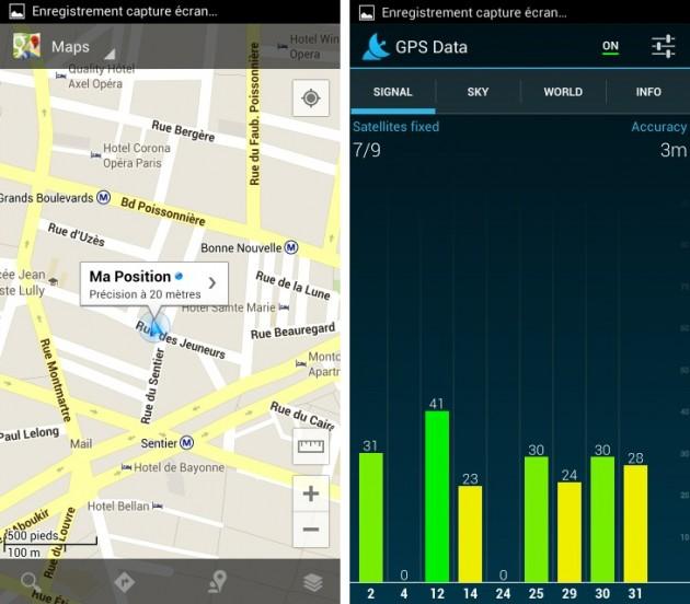 Copie de android wiko cink five test gps status google maps