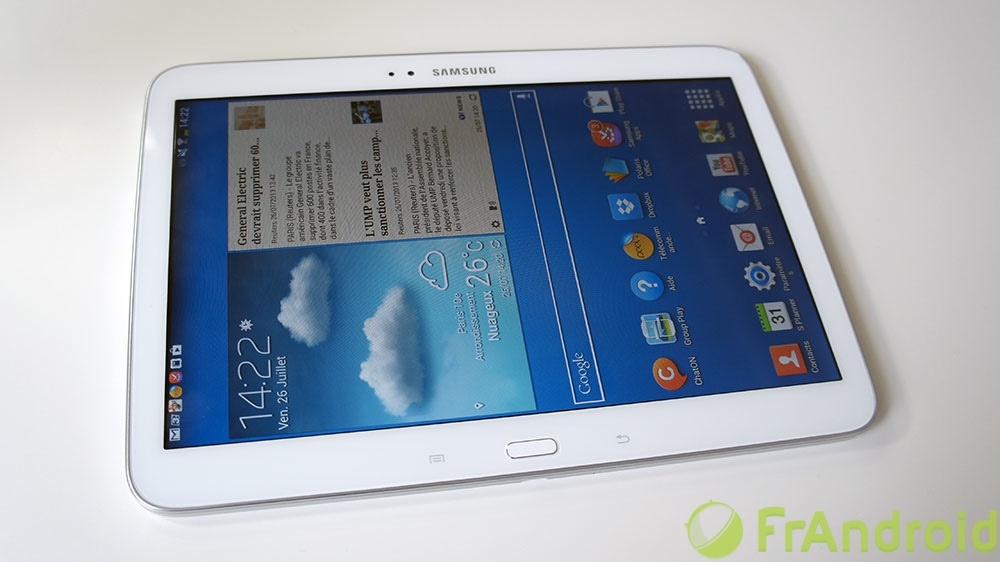 galaxy tab 3 10 1 le test frandroid samsung samsung. Black Bedroom Furniture Sets. Home Design Ideas