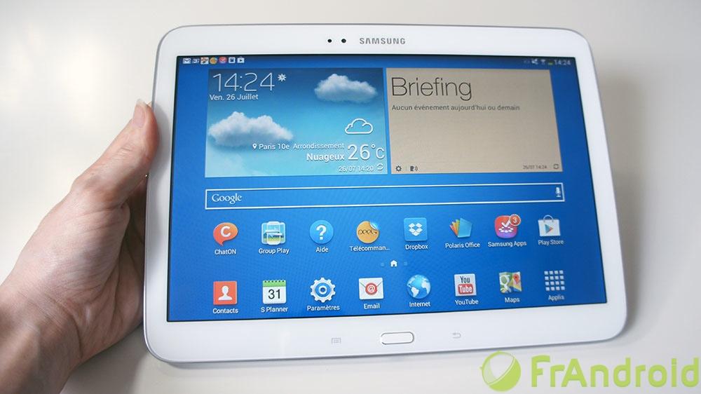 64fbebafa8a Test de la Samsung Galaxy Tab 3 10.1 - FrAndroid