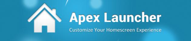 android apex launcher bannière