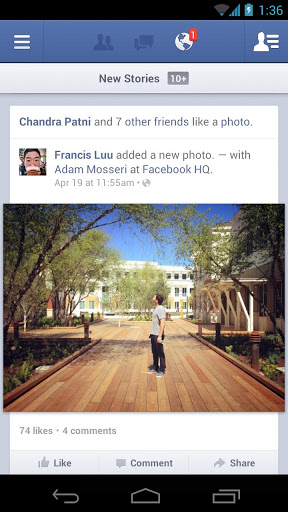 android facebook 3.4