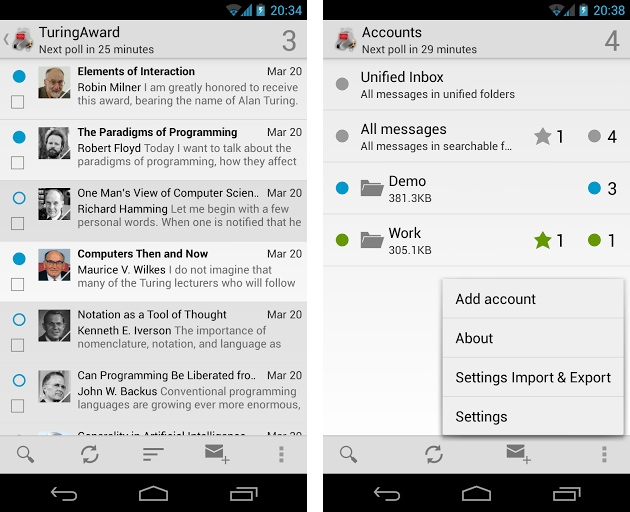 application mail android