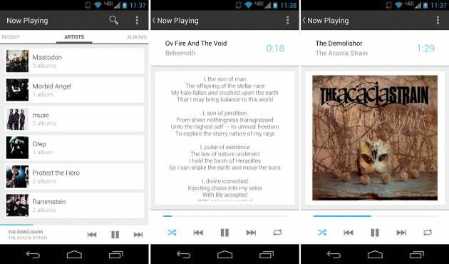 android now playing supprimé du google play