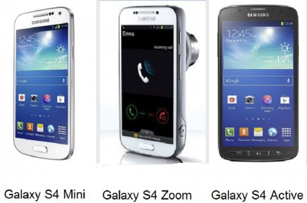 android samsung galaxy s4 mini s4 zoom s4 active