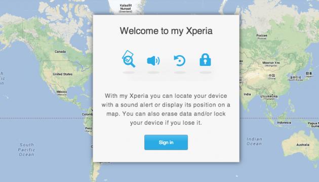 android sony my xperia sécurité en ligne online security localisation