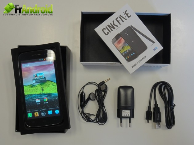 android wiko cink five  boite