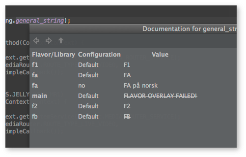 Android Studio -  flavor-strings2