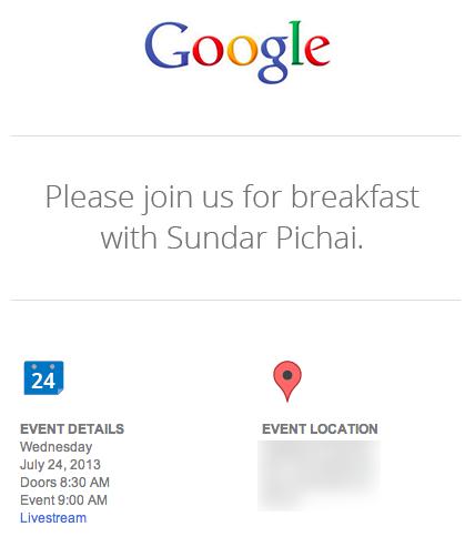 Invitation Google