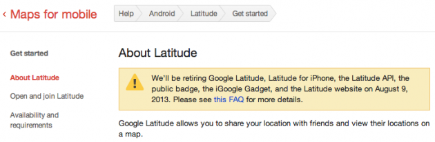 google latitude google+ location