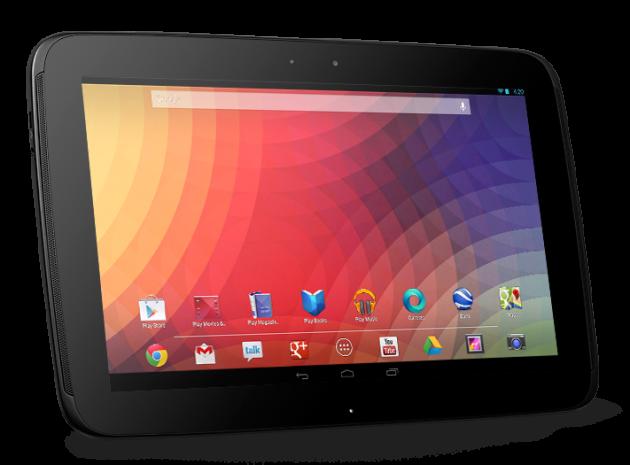 La Nexus 10, dotée d'une résolution de 2 560 x 1 600 pixels
