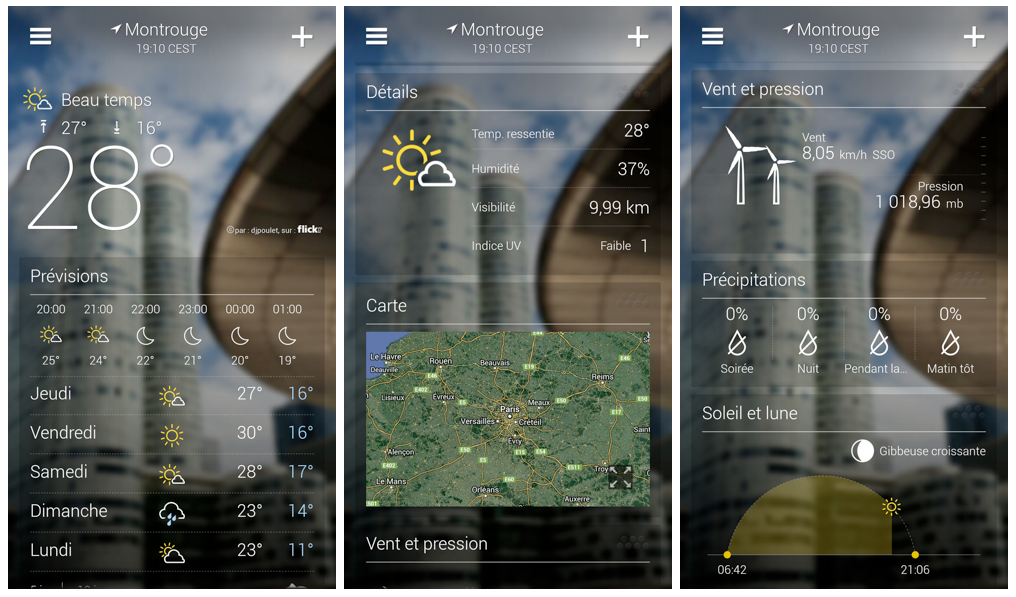 yahoo vient de lancer une application m t o sur android tr s compl te frandroid. Black Bedroom Furniture Sets. Home Design Ideas