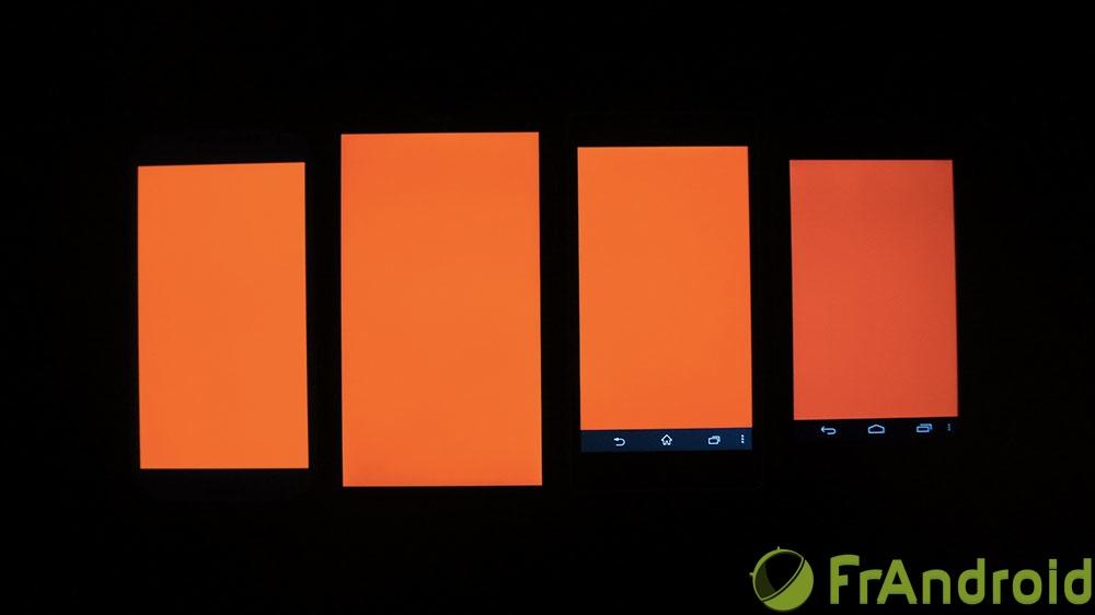 android acer liquid s1 qualité écran rouge