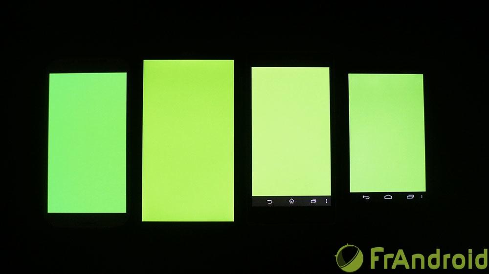 android acer liquid s1 qualité écran vert