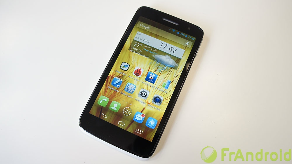 android alcatel one touch scribe hd prise en main 1