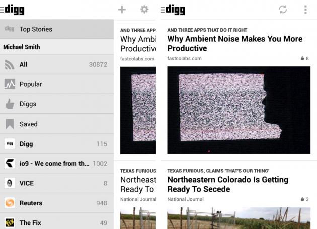 android digg reader 1.0 capture d'écran 1