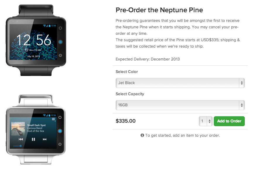 android neptune pine pre-order précommande