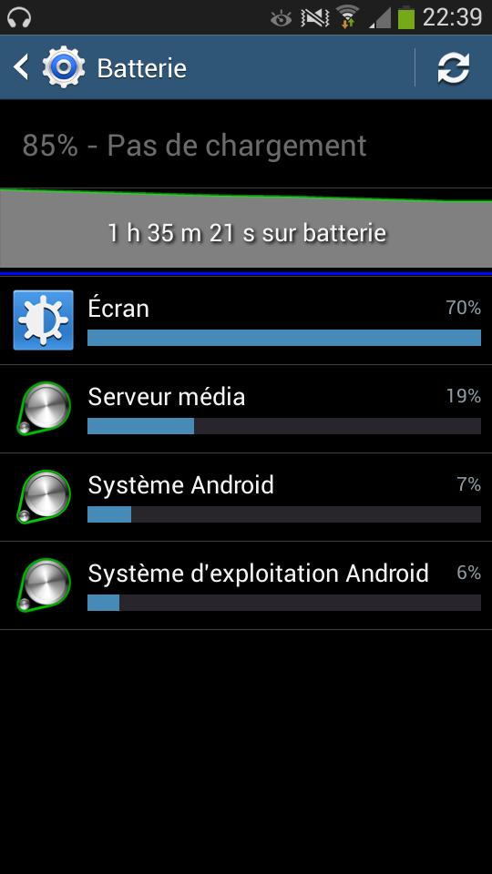 android samsung galaxy s4 mini batterie autonomie vidéo