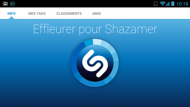 android shazam 4.0 capture d'écran 01
