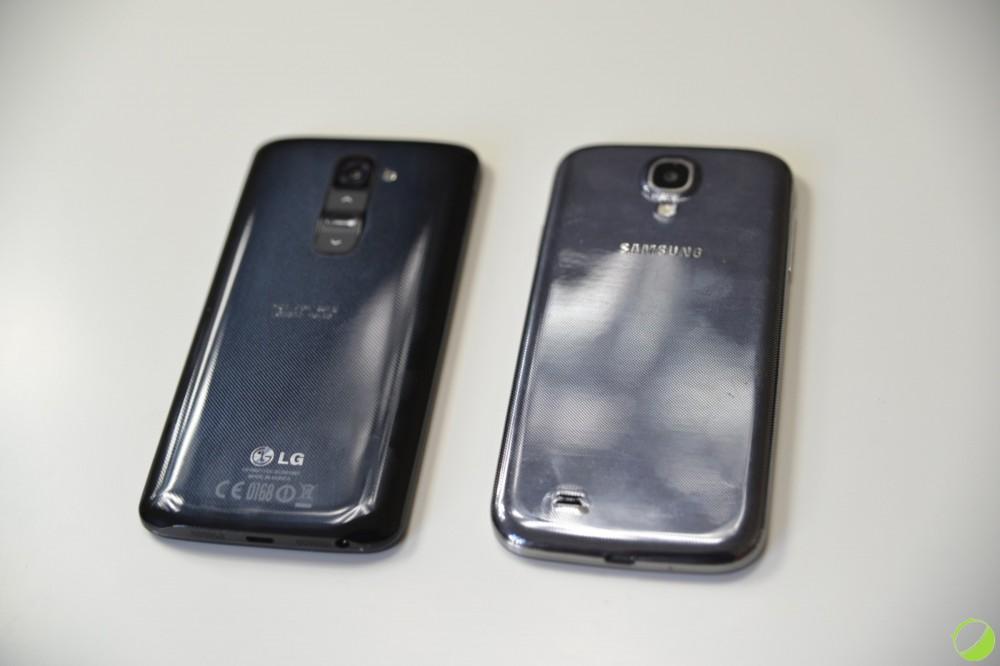 LG G2 et Samsung Galaxy S4