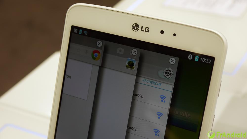 Même fonction sur la LG G Pad 8.9