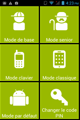 Mode Senior de Mode Rapide