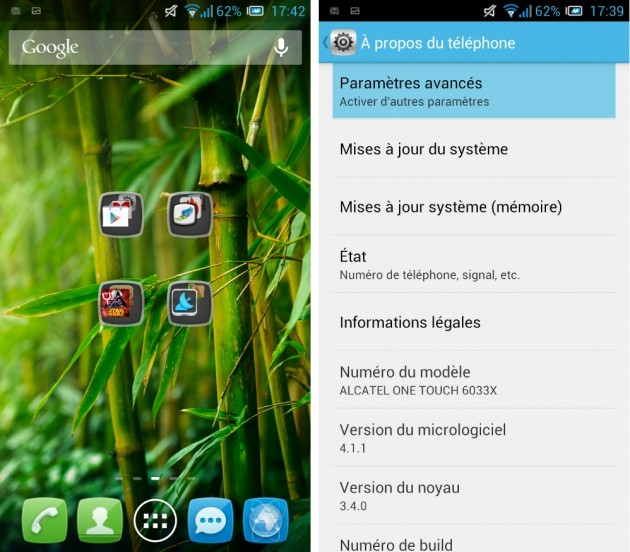 android alcatel one touch idol ultra logiciel 0