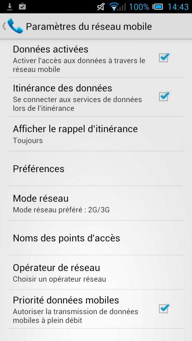 android alcatel one touch idol ultra paramètres réseau mobile périorité données mobiles