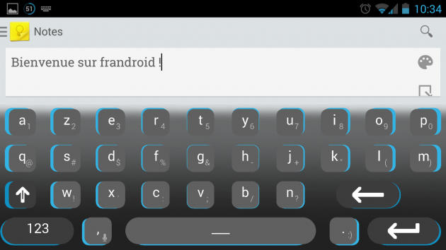 android dynamic keyboard landscape image 0