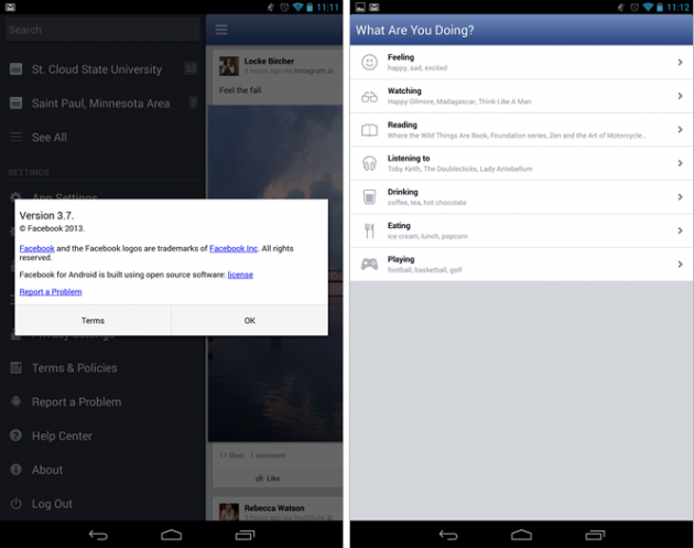 android facebook 3.7 bêta