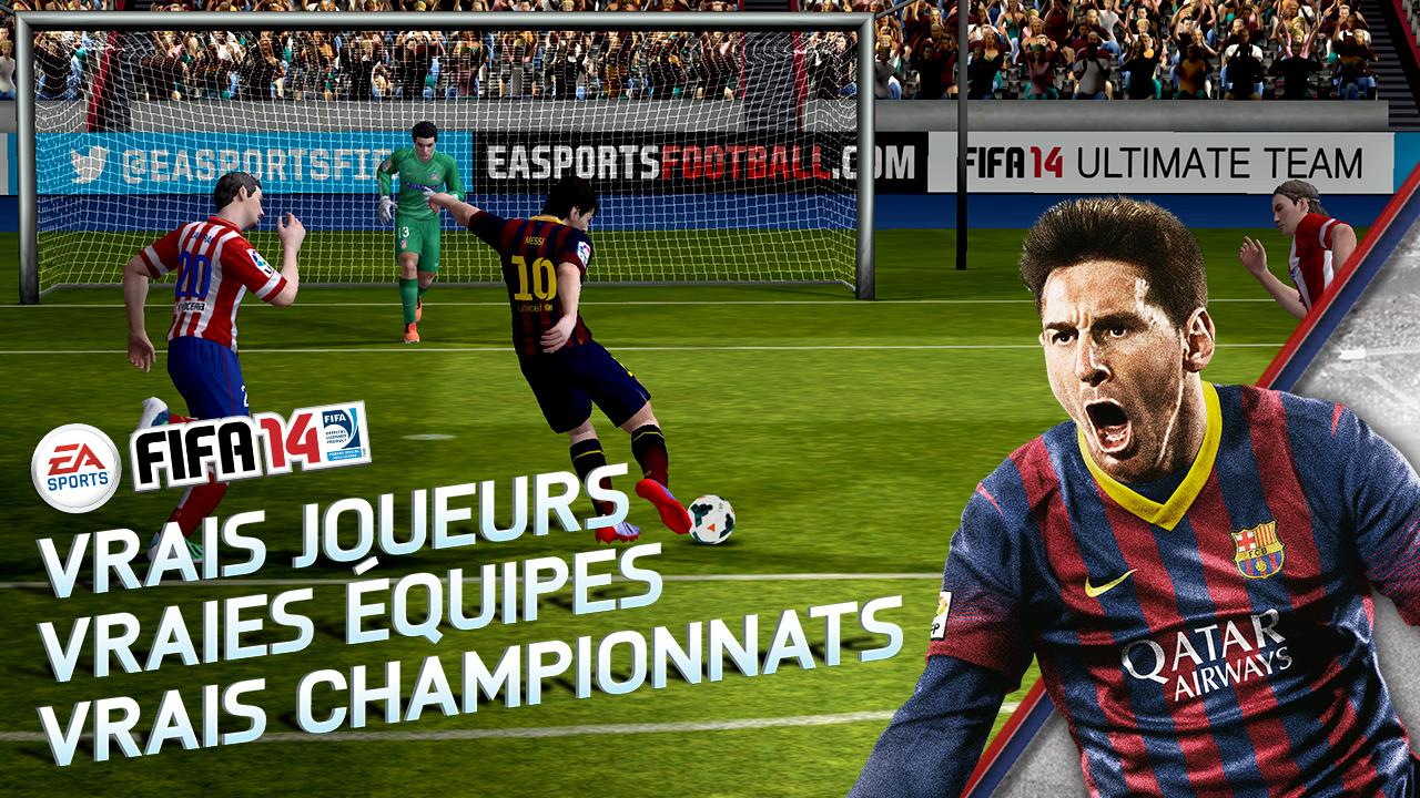 fifa 14 le jeu de foot s 39 invite sur le play store pour la. Black Bedroom Furniture Sets. Home Design Ideas