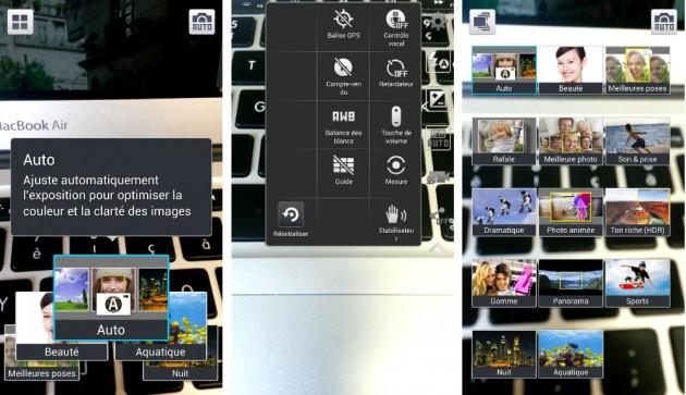 android samsung galaxy s4 active appareil photo caméra paramètres
