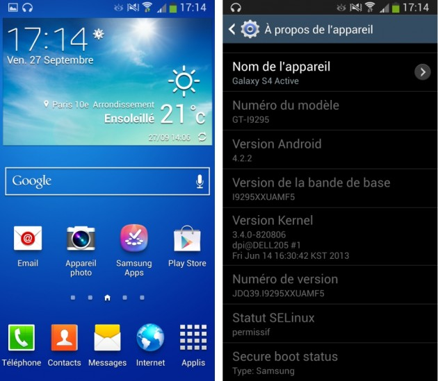 android samsung galaxy s4 active logiciel image 0