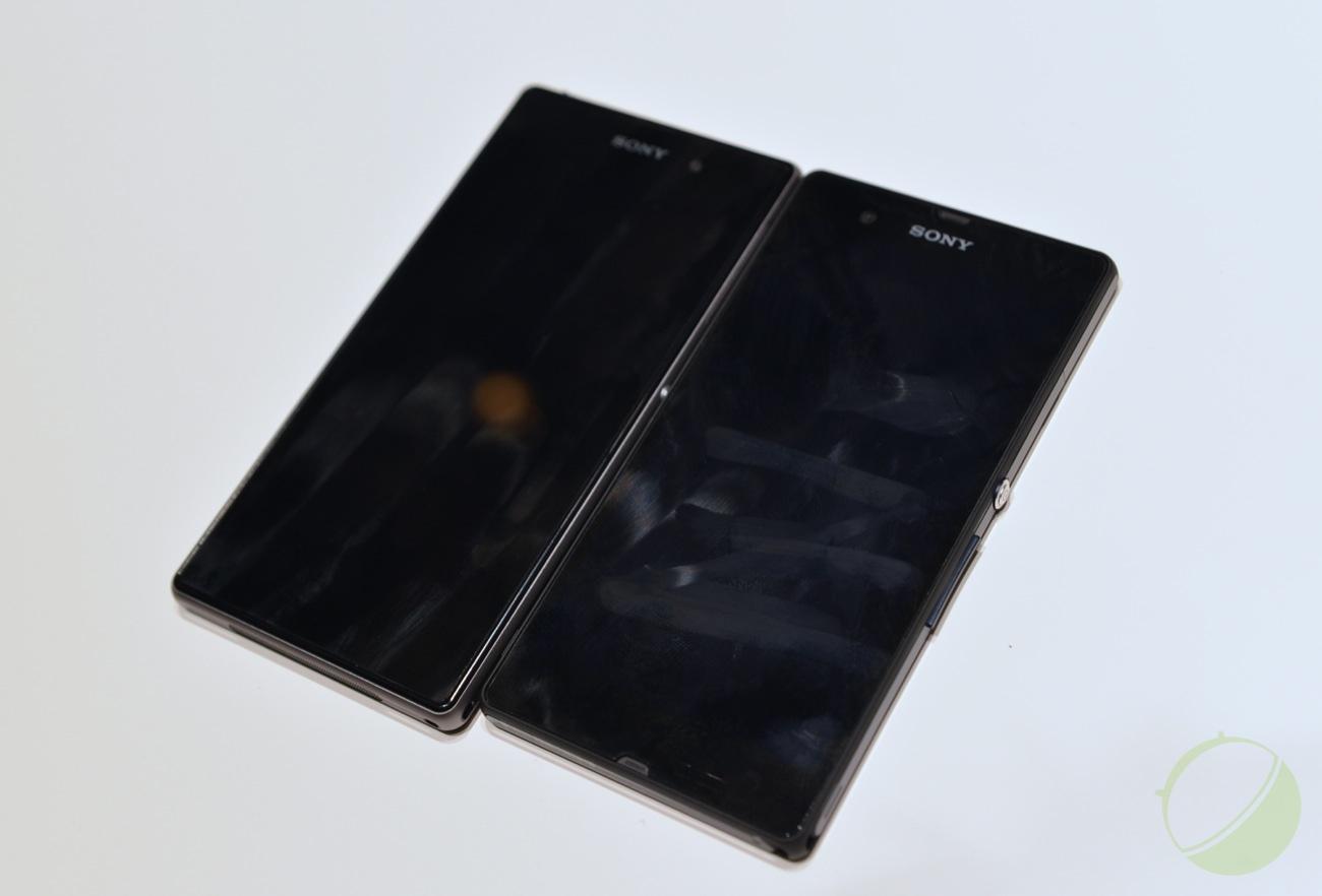 Sony Xperia Z1 (gauche) et Xperia Z (droite)