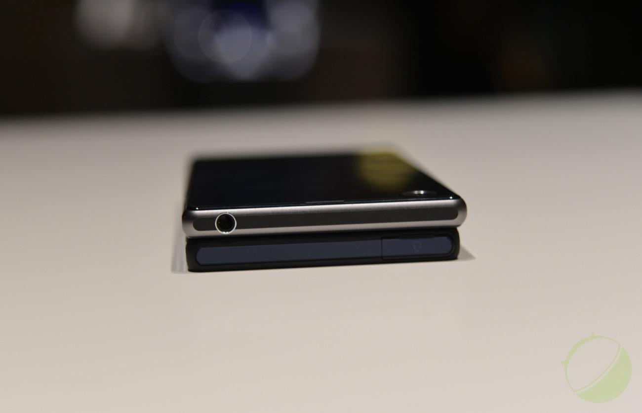 Sony Xperia Z1 (haut) et Xperia Z  (bas)