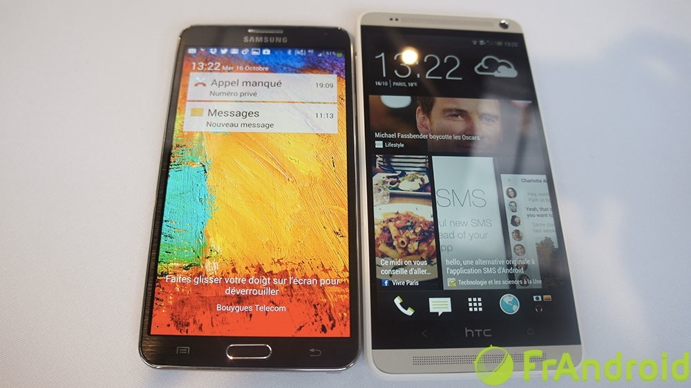 Les phablettes : Galaxy Note 3 et HTC One Max