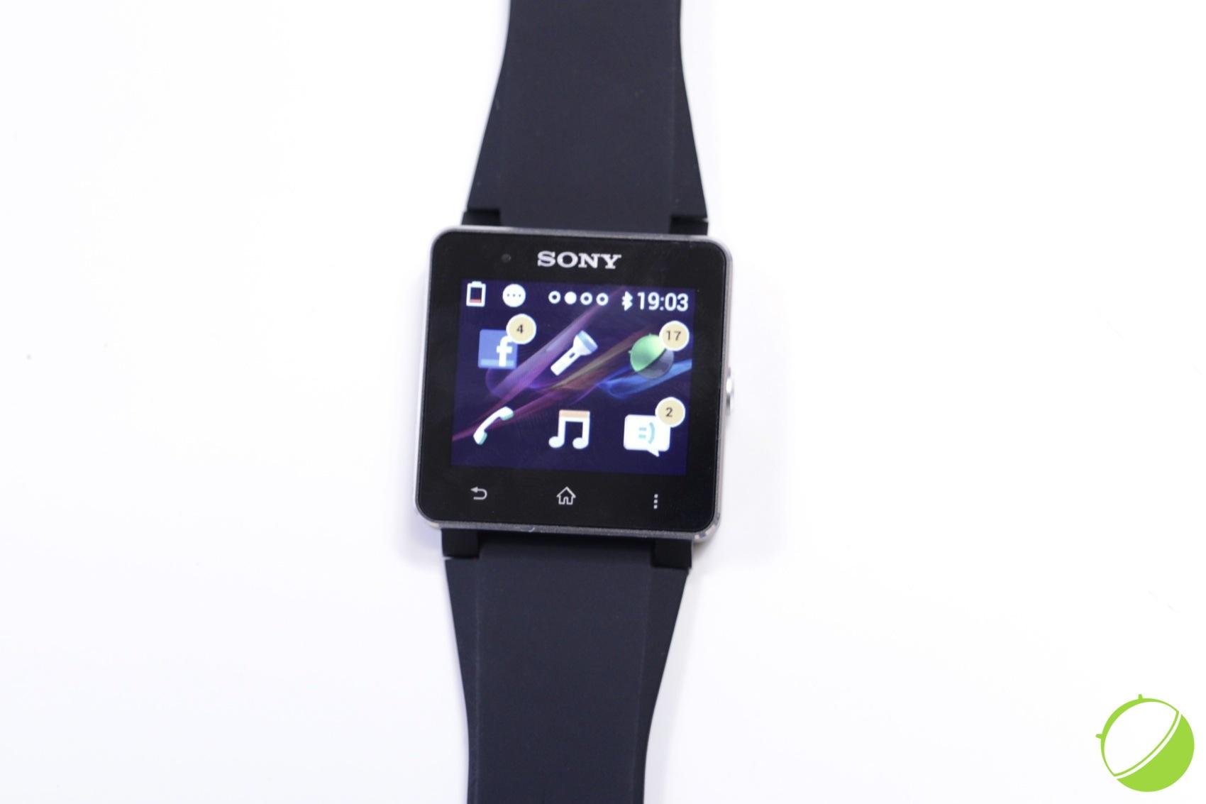 montre sony avec iphone