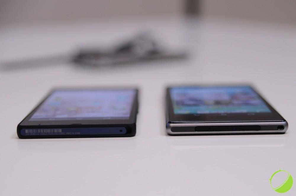Sony Xperia Z à gauche et Sony Xperia Z1 à droite